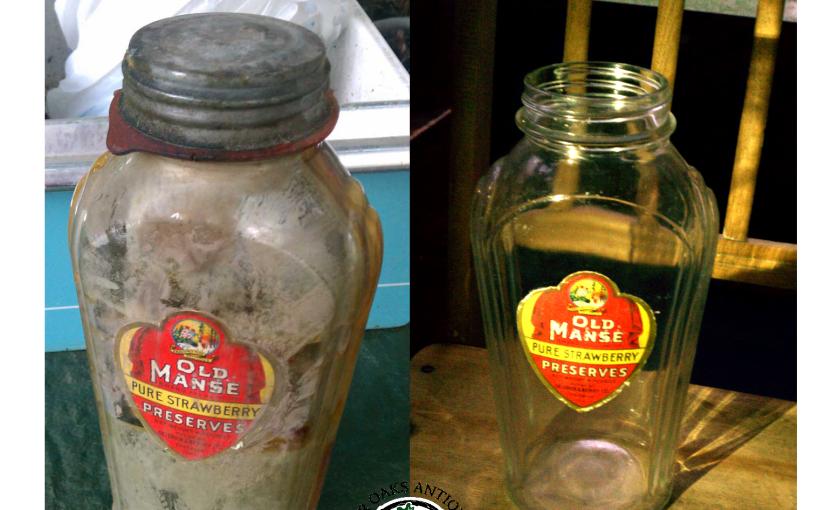Vintage Old Manse & Hazle Atlas Art Deco Preserves Bottle
