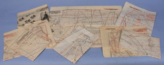 uncut paper patterns from Journal des Demoiselles with illustrations