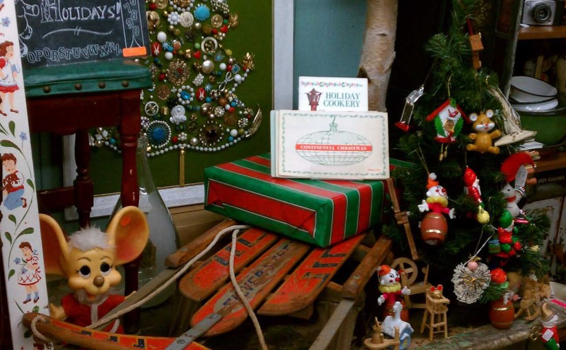 Use Vintage Sleds To Carry The Holiday Gifts