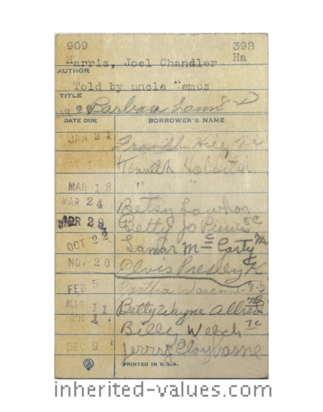 elvis presley library card signed