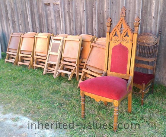 antique church chairs - Antique Church Chairs – Inherited Values