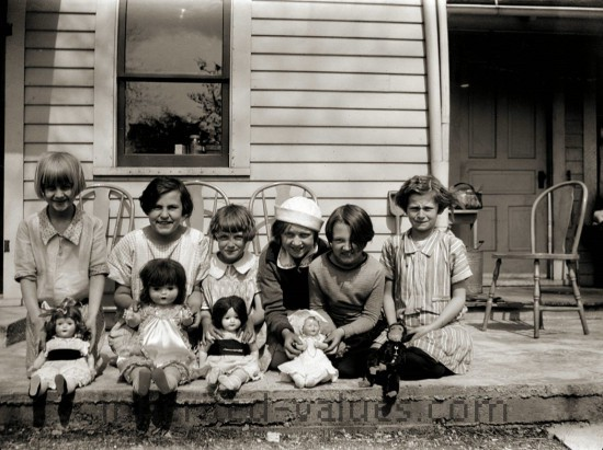 Girls With Their Dolls, 1920s