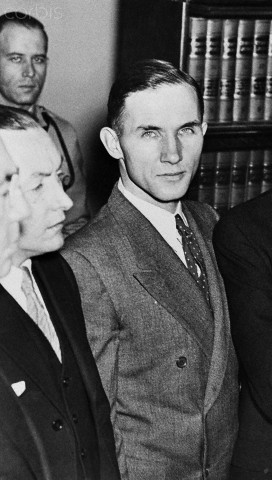Bruno Hauptmann at His Trial in Flemington, New Jersey