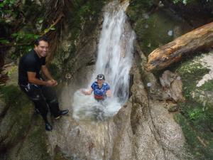 Woodward on a reverse canyoning expedition outside of Quito, Ecuador.