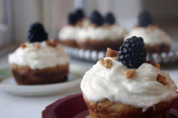 Honeycake with Blackberries