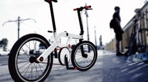 SPACE folding bike unfolds with a touch