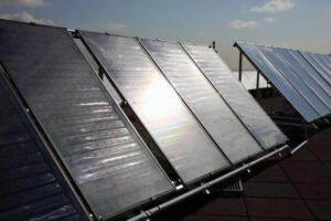 Solar panels can be used to provide heating and air conditioning