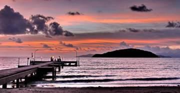 sunset at koh mak - tourist destination Thailand