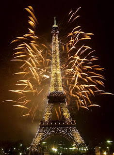 Millennium pyrotechnics at the Eiffel Tower