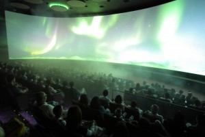 Main Theater: The first production for this multimedia theater,  Ice Worlds,  takes guests to the polar regions.  The BBC has completed production on a second film for this experience,  which features one of the world's widest screens.