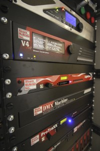 A rack of AV equipment controls is the heart and brains of an attraction. All photos courtesy of Alcorn McBride.