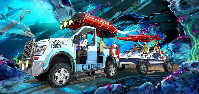 A SeaWorld Animal Rescue-theme ride concept announced in today's SeaWorld Entertainment, Inc. Analyst and Investor presentation. (PRNewsFoto/SeaWorld Entertainment, Inc.)