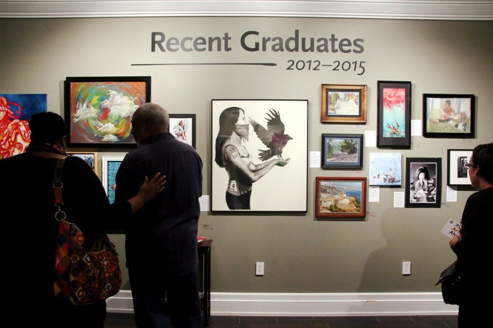 Recent graduates also have their work on display at the exhibition, demonstrating the talent of Ryman Arts' young and emerging artists.