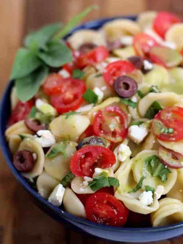 Greek Salad with Sweet Basil Vinaigrette : Inquiring Chef