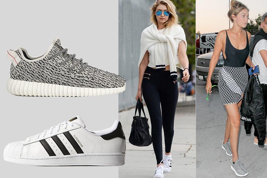 我要做超模:Gigi Hadid的百搭球鞋穿搭術!