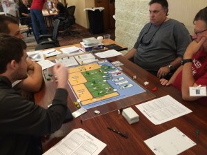 Mike, John, Jordan, and Trevor playing at Consim Expo