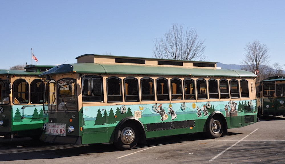 Pigeon Forge Trolley Bus