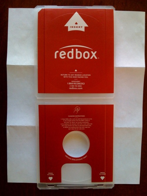 New Redbox DVD case put into circulation Oct 2008