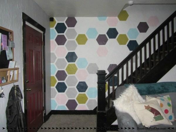 DIY Honeycomb Accent Wall - Inside The Fox Den