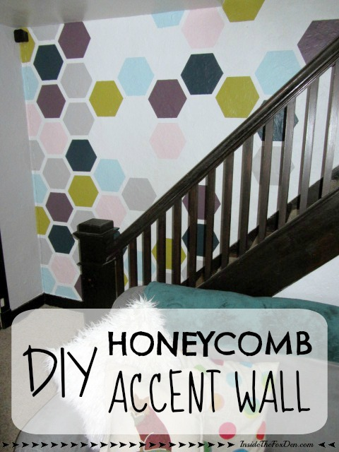 DIY Honeycomb Accent Wall - Inside The Fox Den
