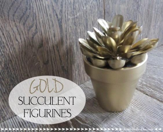 Gold Succulent Figurines | Inside the Fox Den