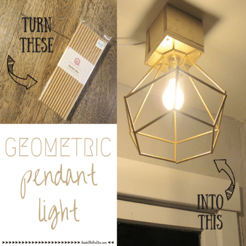 Geometric Pendant Light | Inside the Fox Den