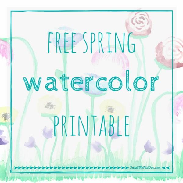Free Spring Watercolor Printable | Inside the Fox Den