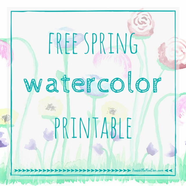 Free Spring Watercolor Printable | Inside the Fox Den