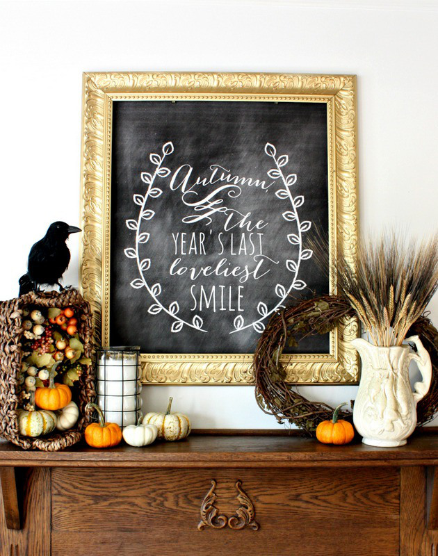 Fall-Harvest-Chalkboard-Mantel-001