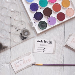 DIY Watercolor & Gilded Business Cards