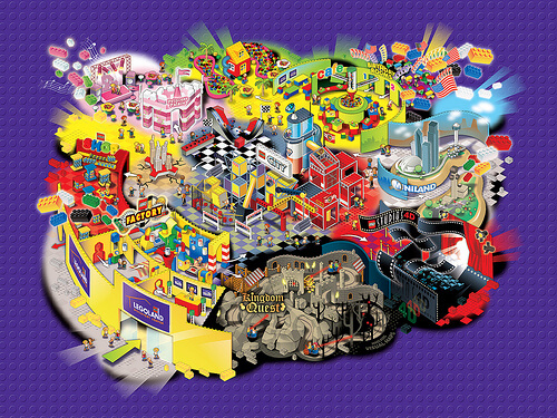 LEGOLAND Discovery Center map in Texas