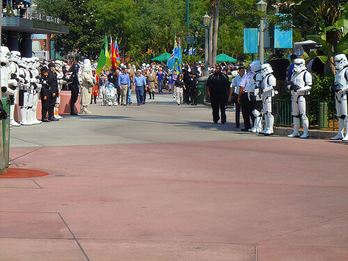 Star Tours opening - George Lucas and Bob Iger
