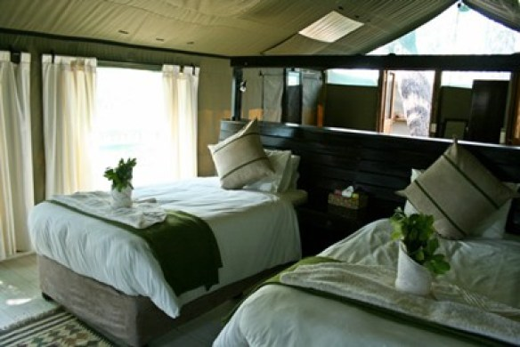 Gunn's Camp Tents in the Okavango delta Luxury Camping Botswana