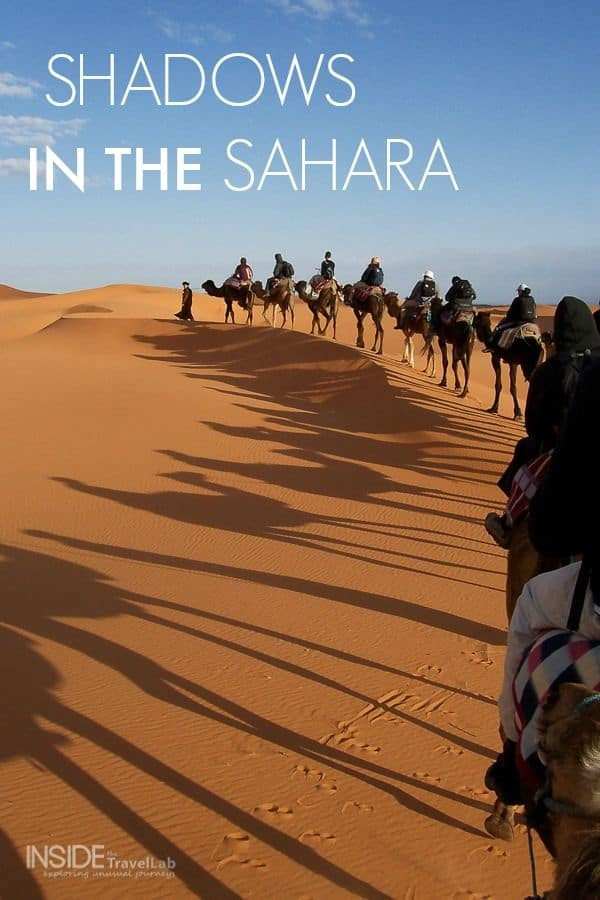 A camel ride in Morocco across the sands of the Sahara via @insidetravellab