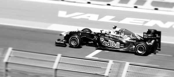 Black and white speed at Formula One