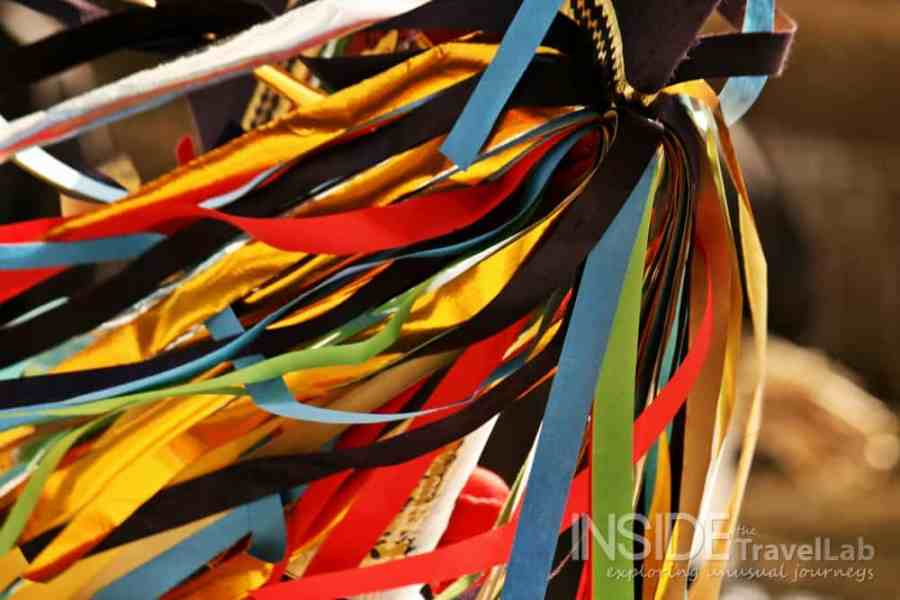 Enburi ribbons at a winter festival