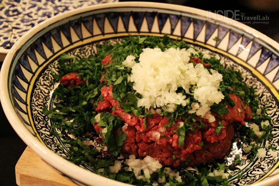 Siniyet Kafta early stages Jordanian Food