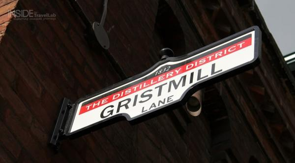 Gristmill sign at Toronto Distillery