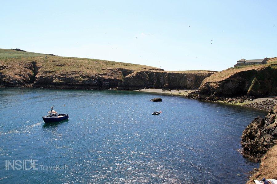 Approaching Skomer Island, Pembrokeshire