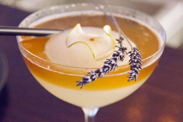 Lavender tinged cocktails in Riga Latvia via @insidetravellab