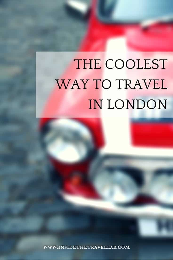 Zipping around London in a classic Mini Cooper: Cool, sexy and a ridiculous amount of fun. - via @insidetravellab