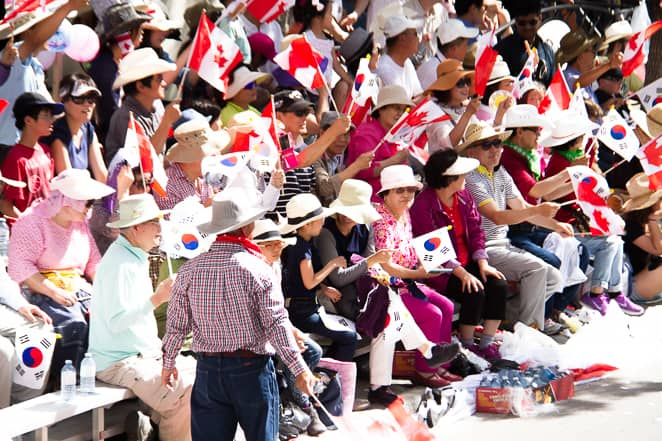 Canada supporters at the Calgary Stampede
