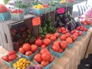 A scene from last year's farmers' market.