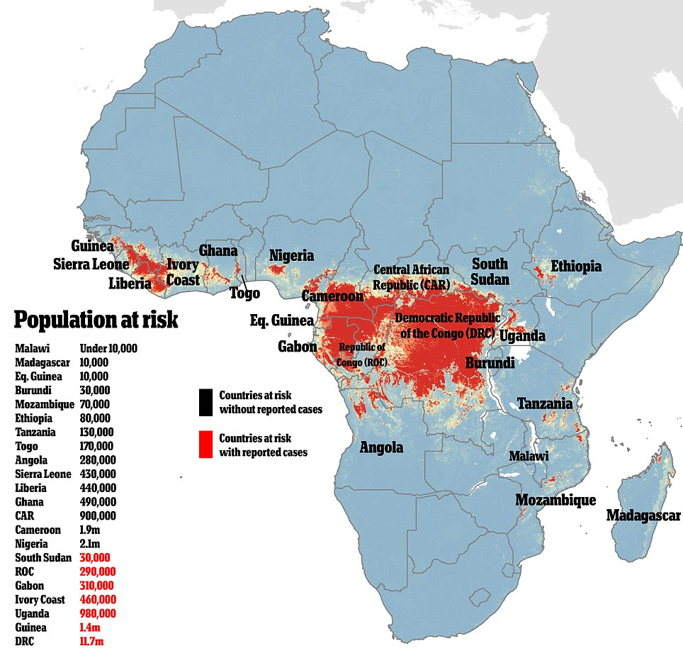 Ebola affected countries
