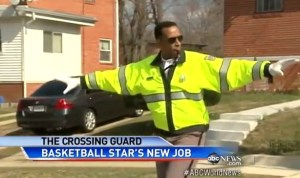 Adrian Dantley as a School Crossing Guard