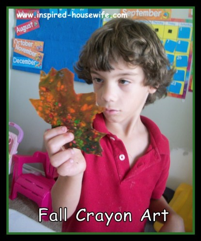Inspired-Housewife: Fall Crayon Stained Glass Art Craft Kids