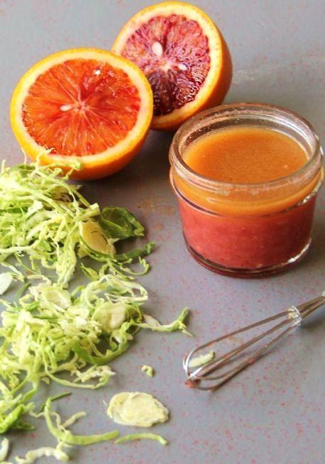 ancient grains salad with blood orange vinaigrette