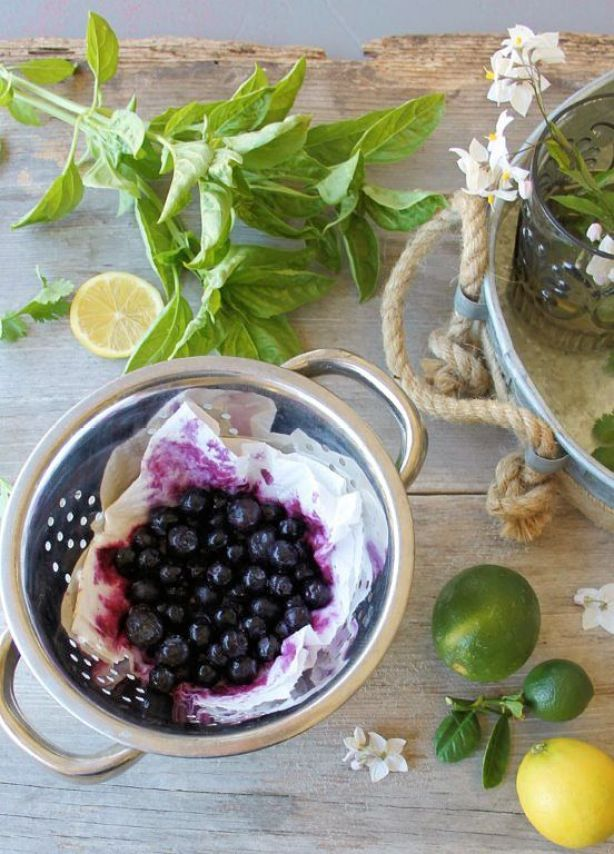 blueberry basil frozen yogurt