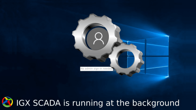 SCADA running in service mode