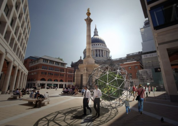Big-B wandering in Paternoster Square